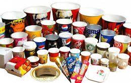 کاغذ پلی اتیلن ظروف یکبار مصرف